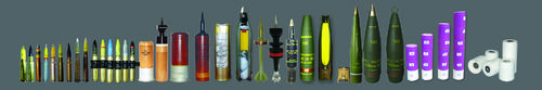 MEDIUM SIZE, MORTAR AND ARTILLERY AMMUNITION