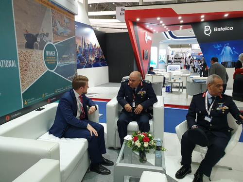 Egypt's Chief of Staff for Air Force visits the EDEX Team at Bahrain Air Show