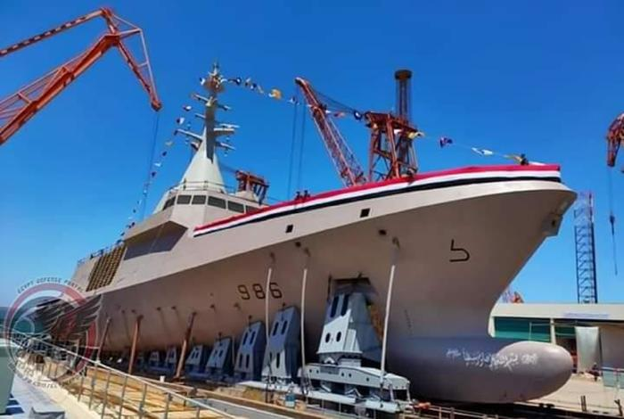 Egypt launches another locally built corvette